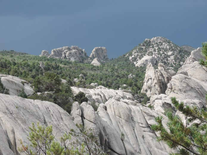 Sicht ueber die Felsenlandschaft der City of Rocks Idaho - Foto von © Nadia Sbilordo