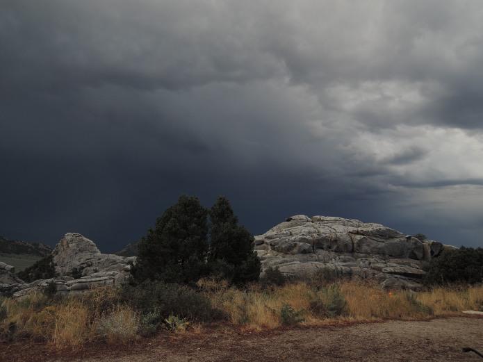 City of Rock Idaho Gewitterwolken - Foto von © Nadia Sbilordo