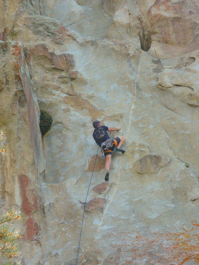 City of Rocks Idaho - Kletterer in der Route She's the Bosch am Sektor Window Rock - Foto von © Nadia Sbilordo